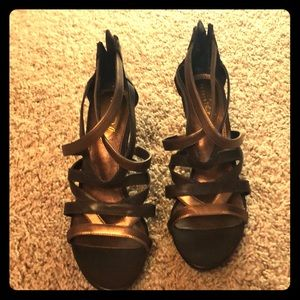 Shoes - Brown and gold heels
